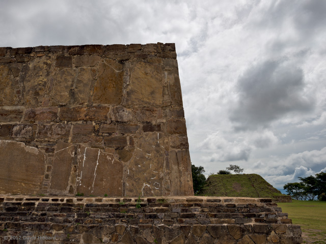 Stone Structure and Sky, Monte Alban - © 2012 David Hibbard