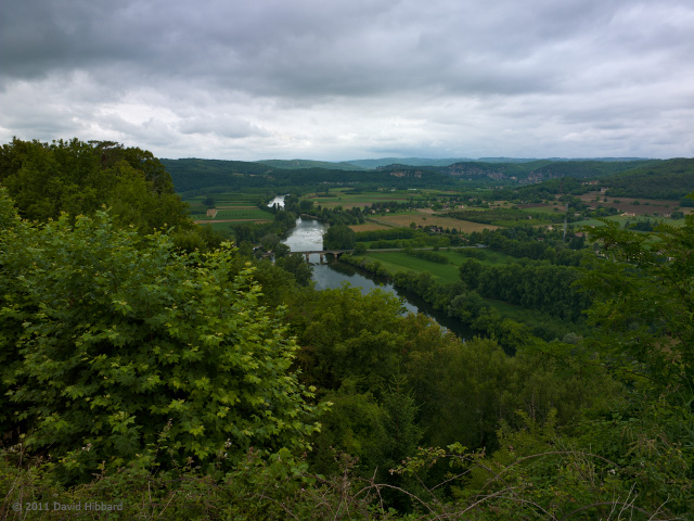 The Dordogne, Looking West from Domme - © 2011 David Hibbard