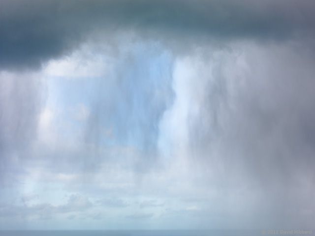 Curtains of Rain, Pescadero Beach - © 2011 David Hibbard